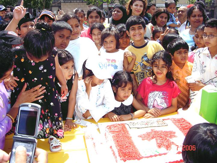 Canada Day Pic-(Cake Cut)